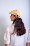 women yellow duckbill cap